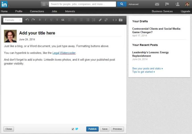 LinkedIn Publish 2