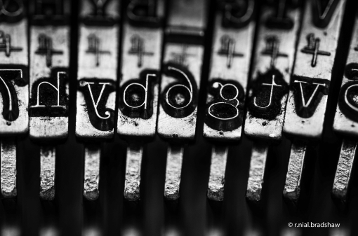 typewriter r. nial bradshaw